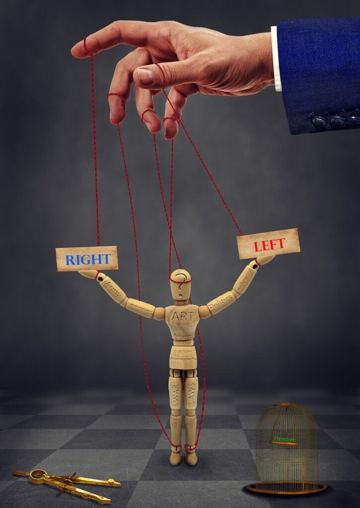 Puppet Political Cage Occult  - Septimiu / Pixabay Power and Politics