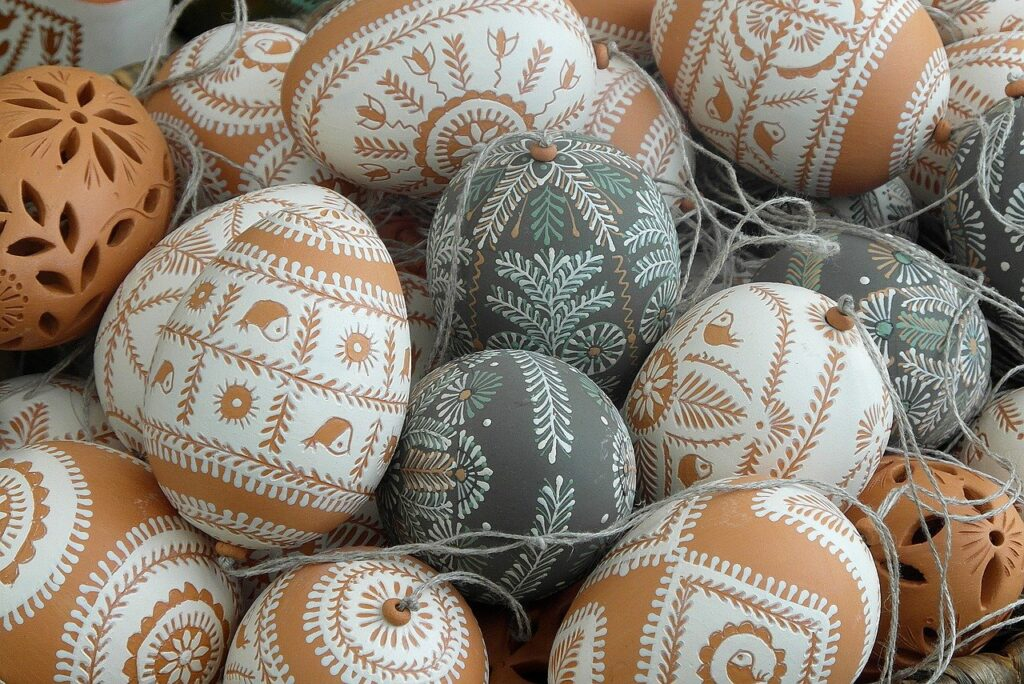 Scraped Easter Eggs Easter Eggs  - Nowaja / Pixabay Difference between culture and tradition (customs and traditions)cultural traditions traditional customs