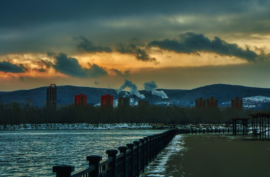 Power Station Embankment Factory  - Purgin_Alexandr / Pixabay essay on pollution of environment